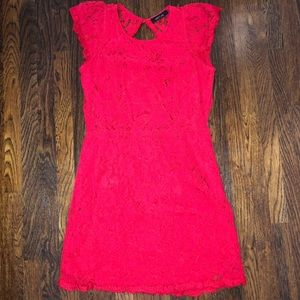 Kaitlyn red lace dress
